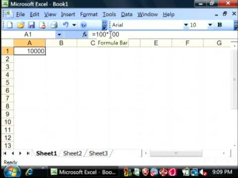 General Computer Tips : How to Create a Formula in Excel 2003
