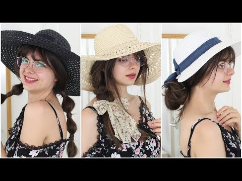 Ways To Style Your Hair With Straw Hats