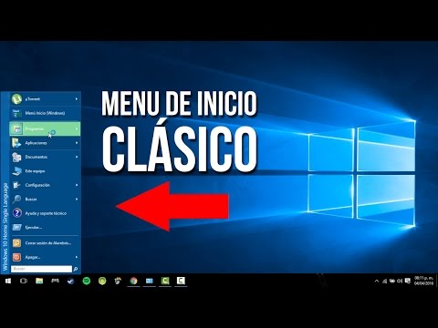 ¡Menú clásico para Windows 10! (SUPER FÁCIL!)