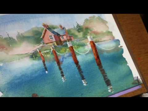Learn watercolor painting - watch this preview of a full watercolor demo