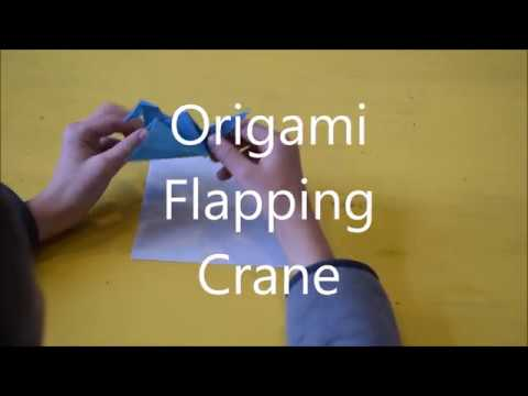 Origami Flapping Crane Tutorial | Step by Step Paper Folding | Make Your Own Origami Crane