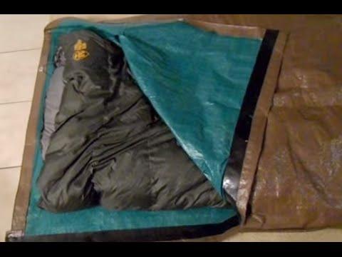 DIY Tarp Sleeping Bag Bivy