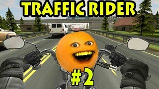 Annoying Orange Plays - Traffic Rider #2: AWESOME BIKE!!!!!