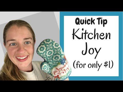 My Favorite Seasonal Item from the Dollar Store that Brings Me Joy in the Kitchen - Konmari Tip