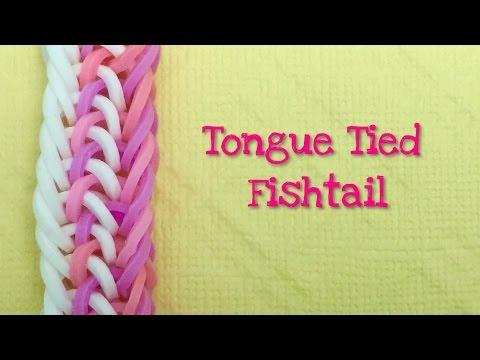 Rainbow Loom Bands Tongue Tied Fishtail tutorial