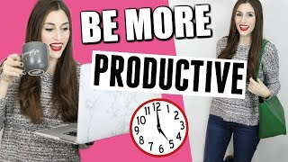 How to Be More Productive | STOP PROCRASTINATING