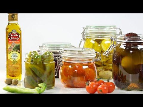 Preserving Vegetables in Olive Oil