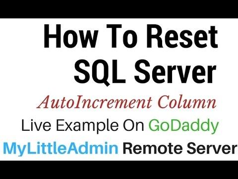 SQL Server (MyLittleAdmin) Reset Table Auto Increment Column Id