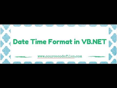 Date Time Format in VB.NET