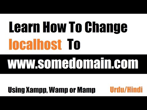 Learn How To Rename Localhost To Some Domain Name Using XAMPP  in Urdu/Hindi