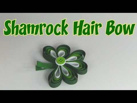 How to Make a Shamrock Hair Bow