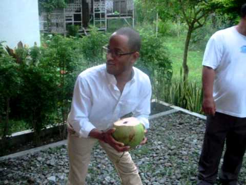 Cutting Open Coconuts and Drinking from them...=]