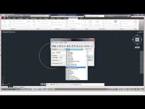 HOW TO TYPE A TEXT IN CIRCLE SHAPE IN AUTOCAD | AutoCad Tutorials | ARS MULTI SKILLS