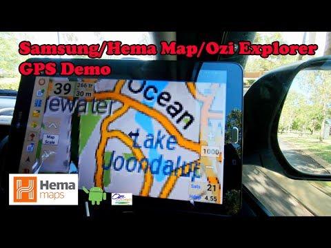 Samsung/Hema Map/Ozi Explorer GPS demo