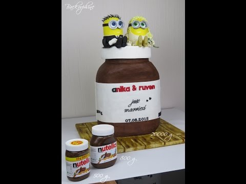 Minion Nutella Jar Wedding Cake
