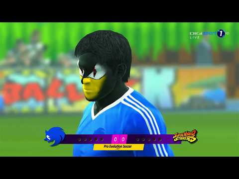 Team Sonic vs. Mario Strikers Penalty-Shootout | PES 2013 Anime vs. World Patch