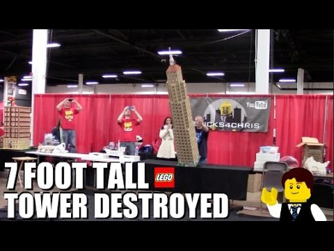 EPIC 7 FOOT TALL LEGO TOWER DESTROYED!