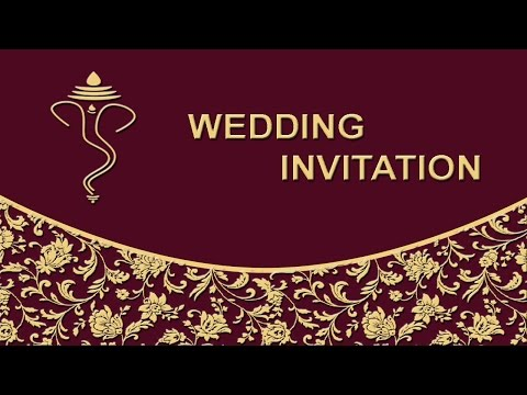 How to create Wedding Invitation Card Front Page in Photoshop