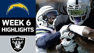 Chargers vs. Raiders   NFL Week 6 Game Highlights