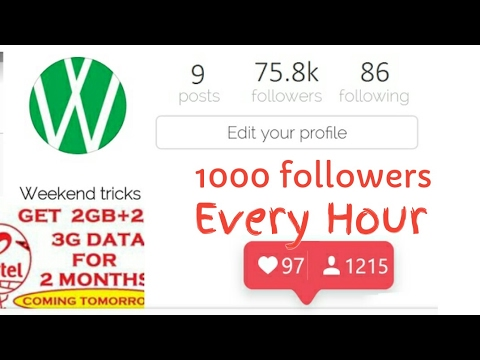 Get 1000 Instagram Followers every Hour without following anybody | Great trick |Never done anywhere