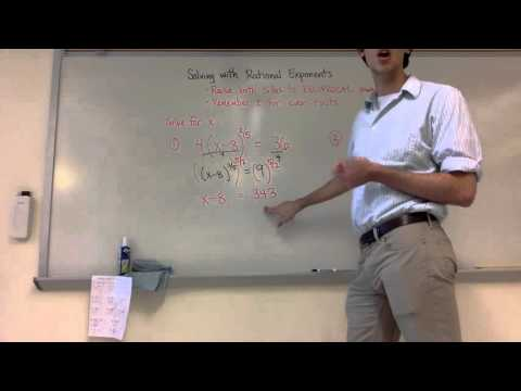 Solving with Rational Exponents (7-5-2)