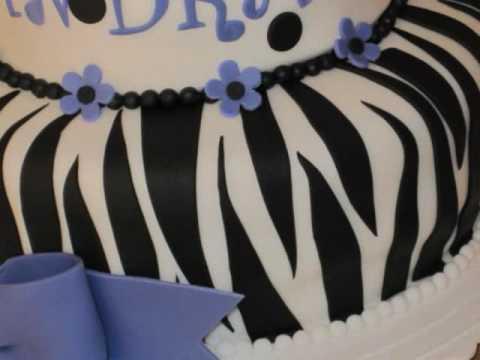 Fondant Cakes - Sweet 16 Zebra & Polka Dot Themed
