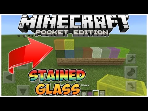 ✔HOW TO GET STAINED GLASS IN MCPE 1.0 [BLOCK LAUNCHER] !