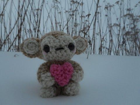 Amigurumi Crochet Valentine's Monkey Tutorial