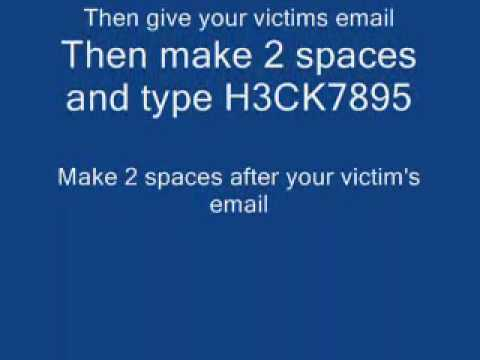 How to hack Windows Live or MSN Emails (NO JOKE WORKS 100%)