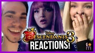 Descendants Cast REACTS to DESCENDANTS 3 Trailer & Announcement - Dove Cameron, Sofia Carson