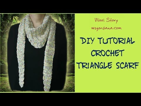 DIY Tutorial How to Crochet a Colorful Triangle Scarf