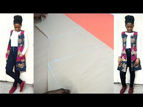 HOW TO: ANKARA LINED OPEN JACKET PATTERN DRAFTING
