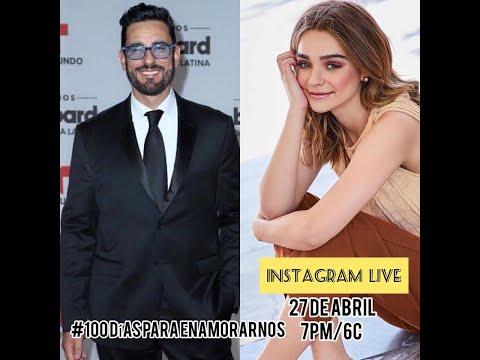 INSTAGRAM LIVE:  Miguel Varoni y Macarena Garcia 100 Dias Para Enamorarnos Abril 2020