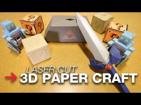 3D Paper Craft | Laser Cut Paper Craft | Paper Shapes