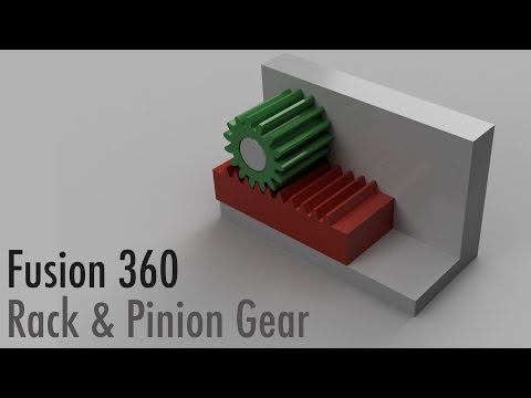 Fusion 360 Rack and Pinion Gear