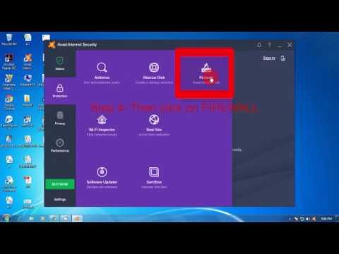 Avast Antivirus Firewall on & off