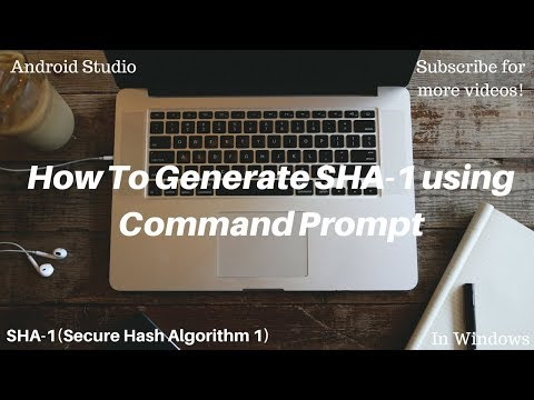 Obtaining SHA-1 Key for android using command prompt in Windows.