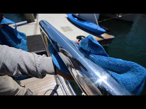 How to Polish and Wax Yacht Stainless Hand Rails