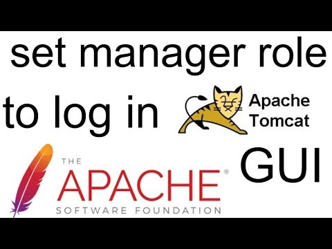 Setting Tomcat manager role to login into GUI