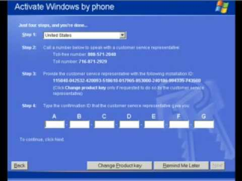 How To Activate Windows XP Installation If You Don't have a Serial