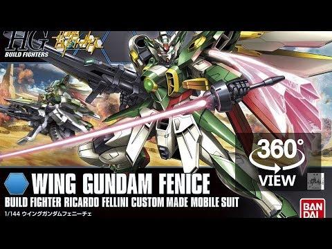 [360°Degree] HG 1/144 Wing Gundam Fenice + Meteor Hopper