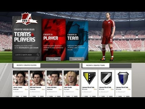 FIFA Creation Centre Tutorial #1 HOW TO CREATE A PLAYER & DOWNLOAD on FIFA 12 in HD
