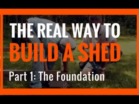 How to Build A Shed Yourself - Part 1 - Install The Shed Foundation