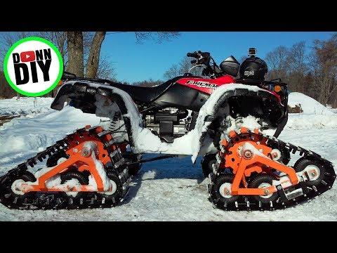 Homemade ATV Tracks Modification II - NEW Sprockets!