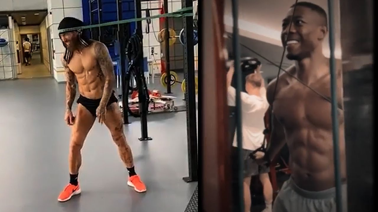 Famous Footballers Working Out 🔥 Muscle & Strength ft. Hulk, Alaba, Neuer & More!