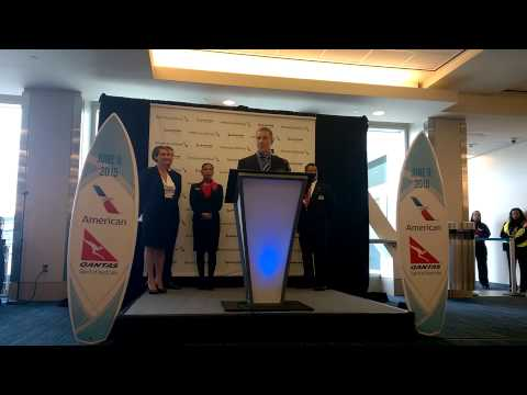 American Airlines Fifth Continent LAX Announcement June 9 2015