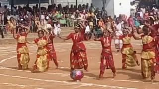 School day welcome dance in st.charles school, kammanahalli
