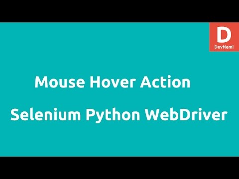 Mouse Hover Actions in Selenium Python Webdriver