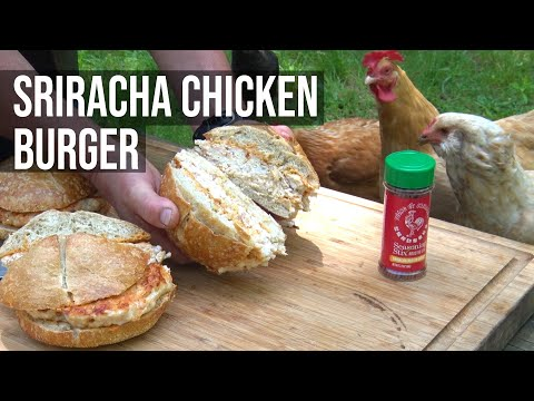 Sriracha Chicken Shrimp Burgers