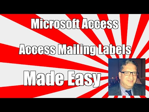 access mailing label wizard tutorial - Access 2003, 2007, 2010, 2013 2016 tutorial for beginners